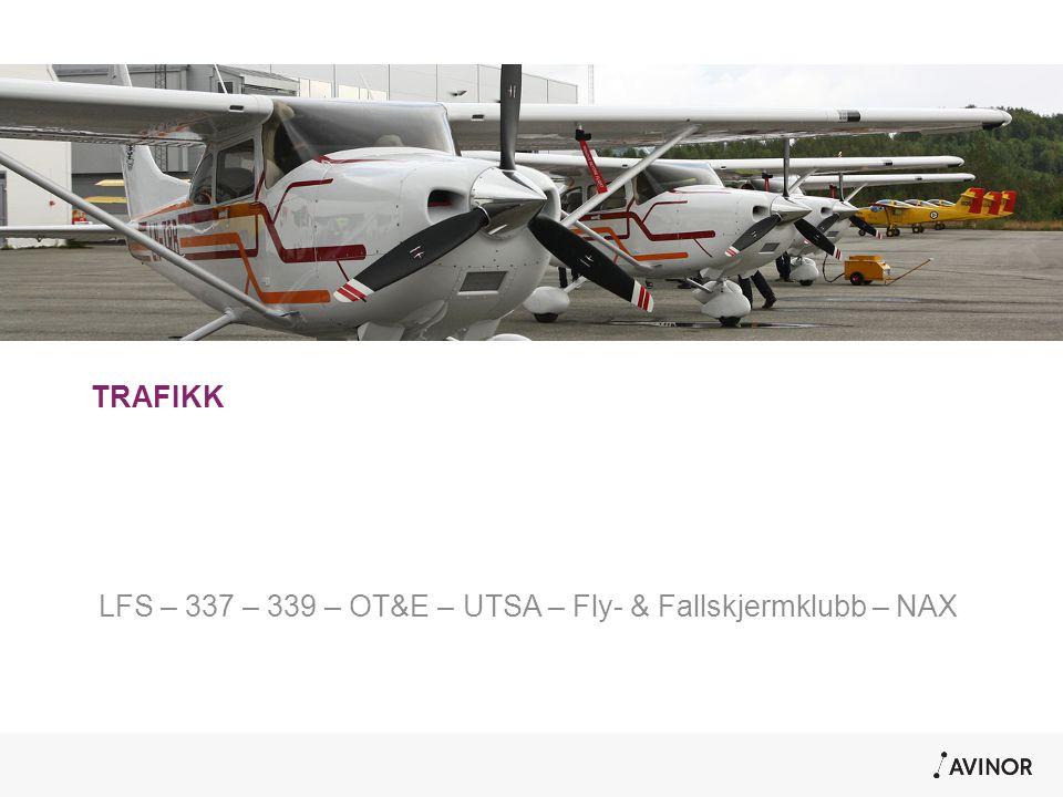 TRAFIKK LFS – 337 – 339 – OT&E – UTSA – Fly- & Fallskjermklubb – NAX