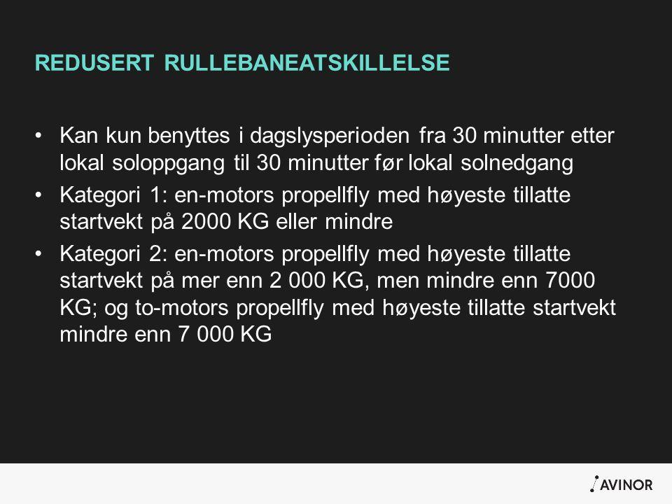 REDUSERT RULLEBANEATSKILLELSE