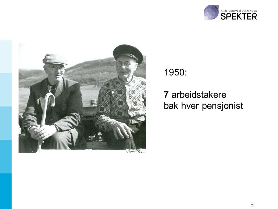 1950: 7 arbeidstakere bak hver pensjonist