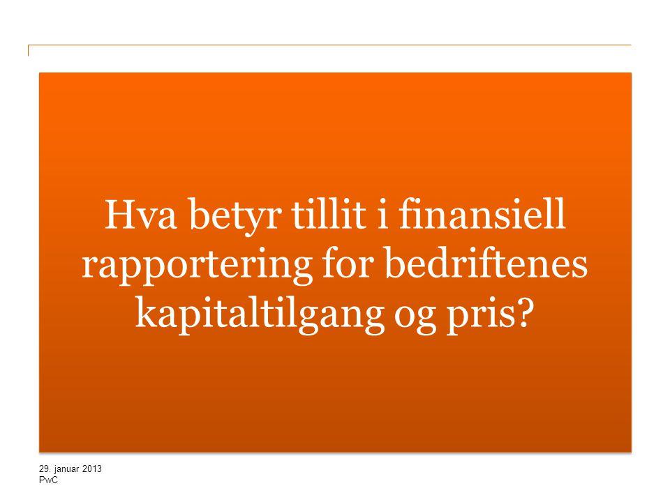 Hva betyr tillit i finansiell rapportering for bedriftenes kapitaltilgang og pris