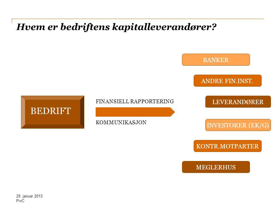 Hvem er bedriftens kapitalleverandører