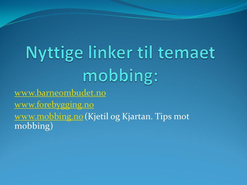 Nyttige linker til temaet mobbing: