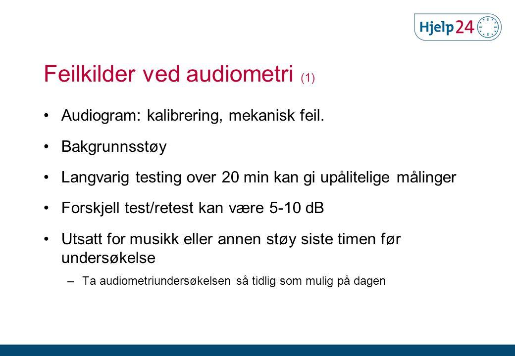 Feilkilder ved audiometri (1)