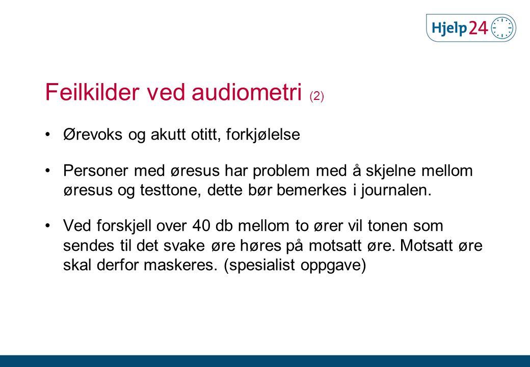 Feilkilder ved audiometri (2)