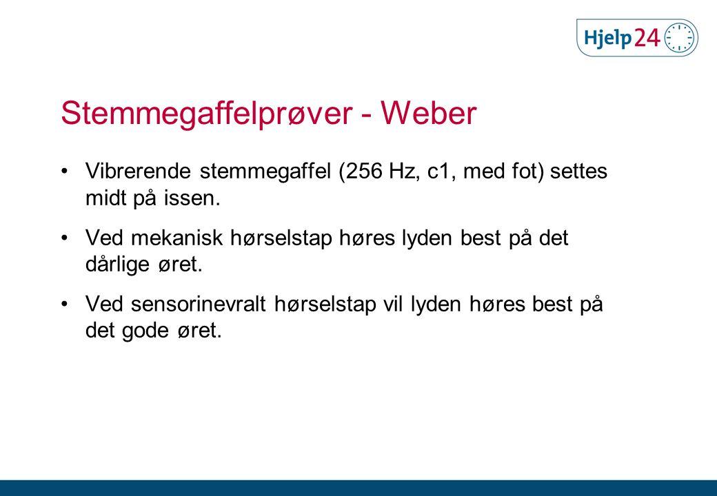 Stemmegaffelprøver - Weber