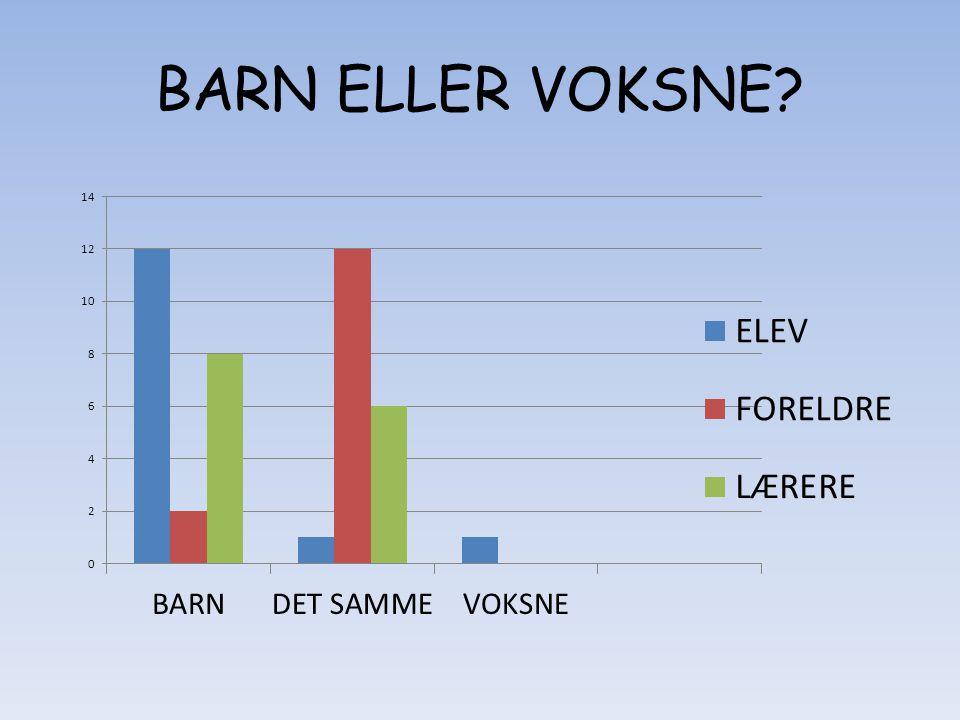 BARN ELLER VOKSNE