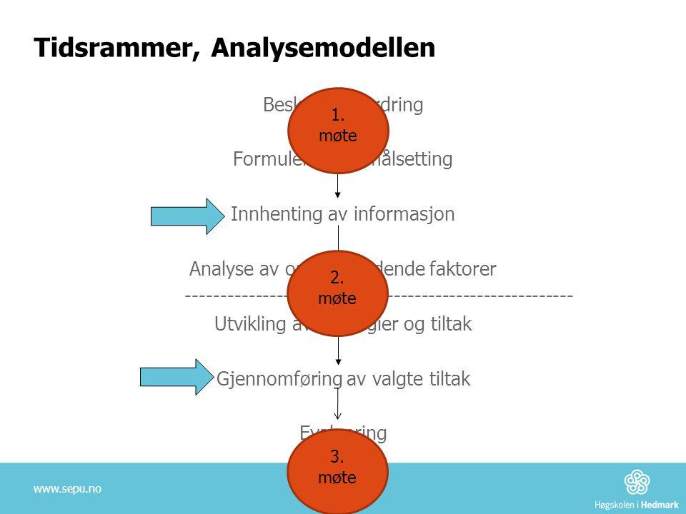 Tidsrammer, Analysemodellen