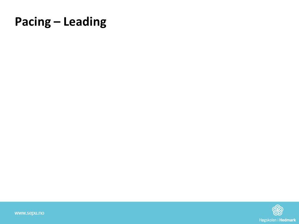 Pacing – Leading www.sepu.no