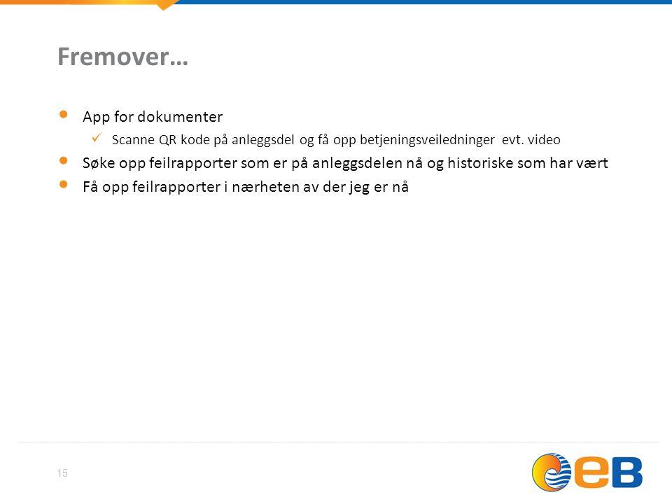 Fremover… App for dokumenter