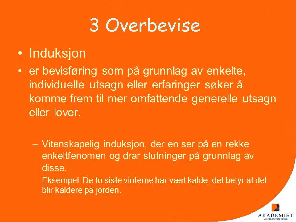 3 Overbevise Induksjon.