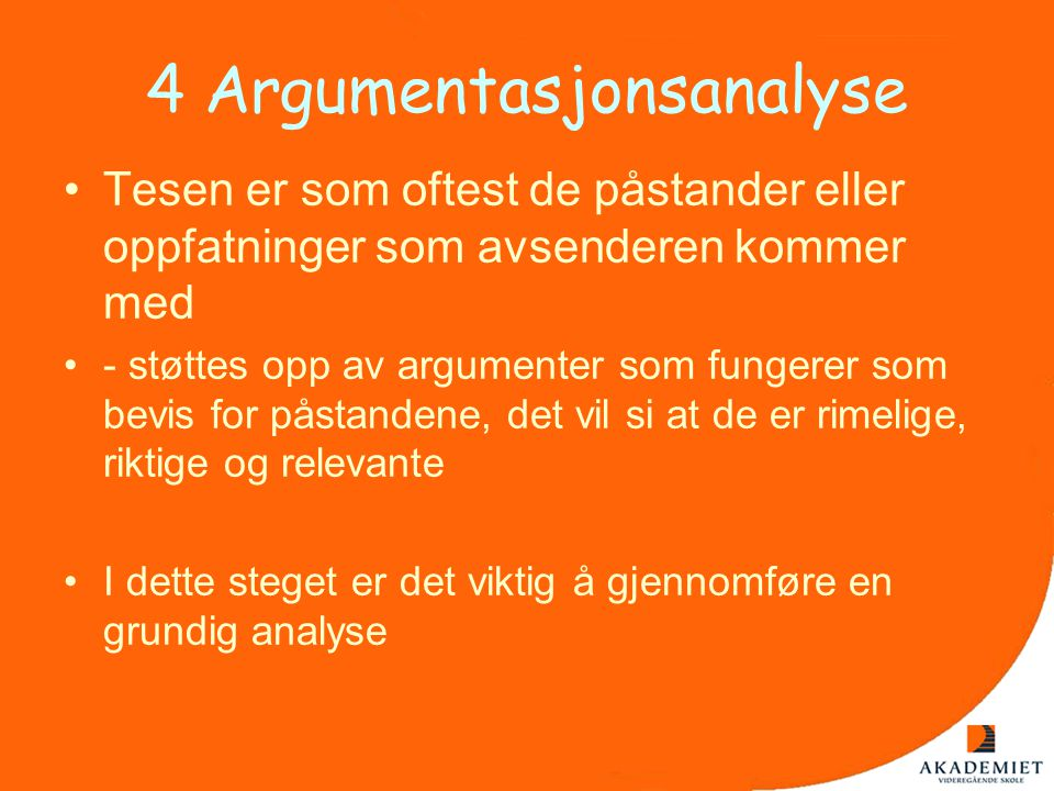 4 Argumentasjonsanalyse