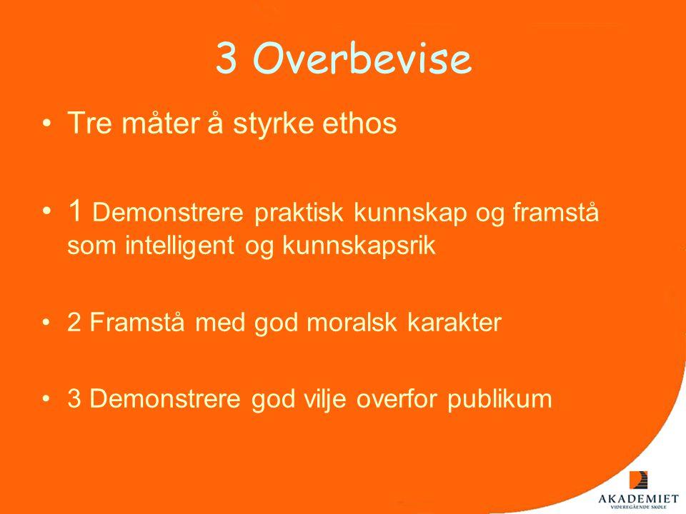 3 Overbevise Tre måter å styrke ethos