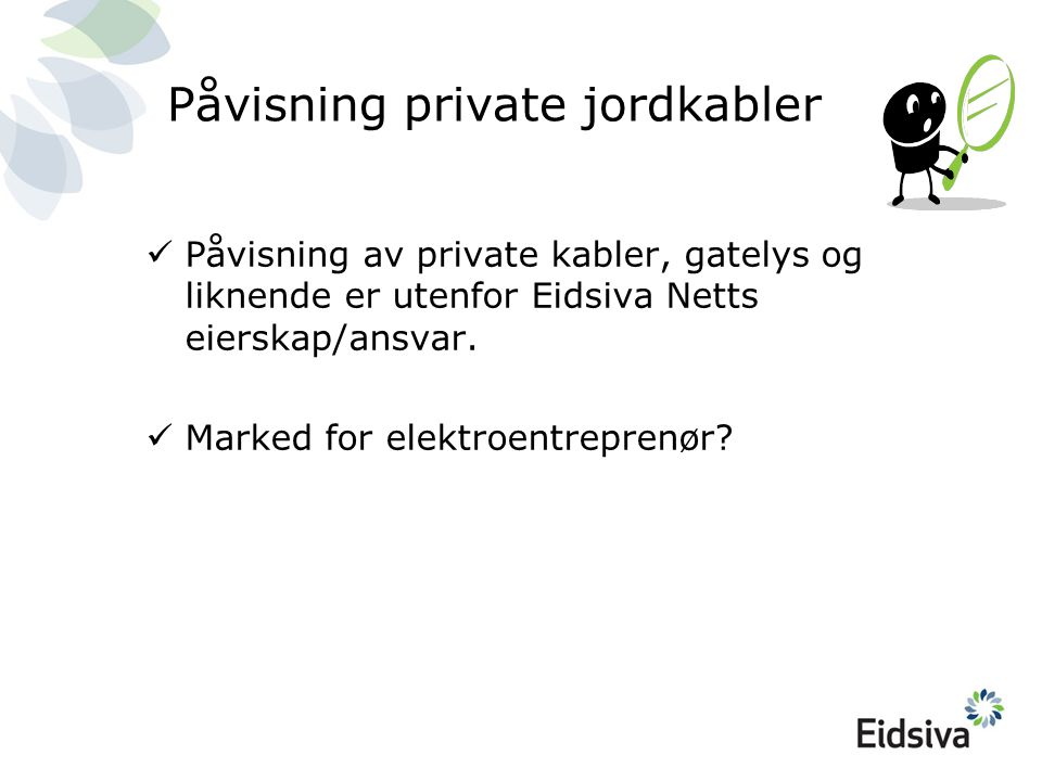 Påvisning private jordkabler