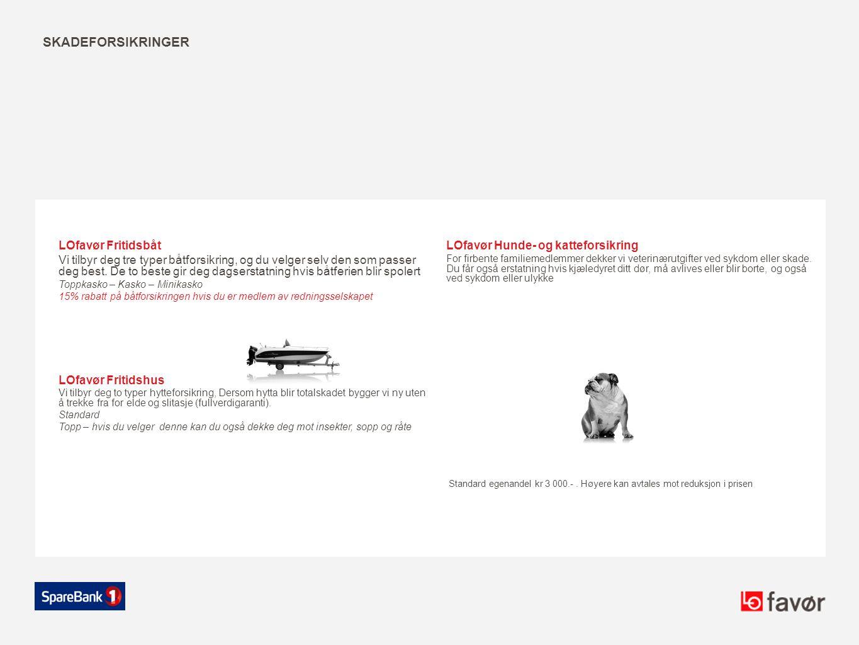 skadeforsikringer LOfavør Fritidsbåt LOfavør Hunde- og katteforsikring