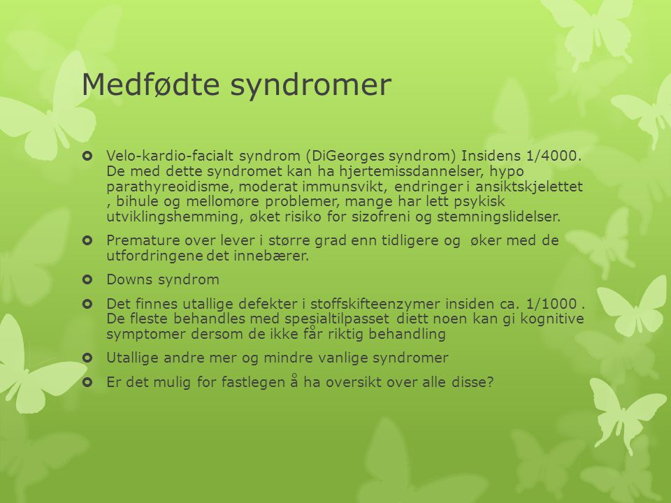Medfødte syndromer