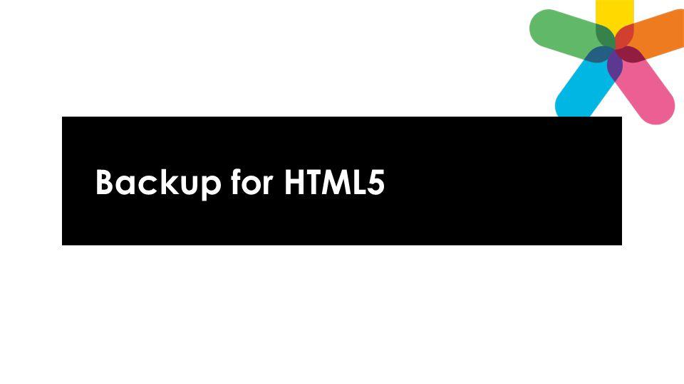 Backup for HTML5