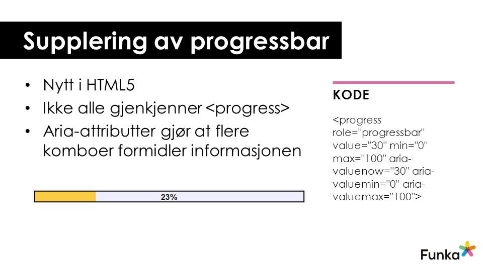 Supplering av progressbar