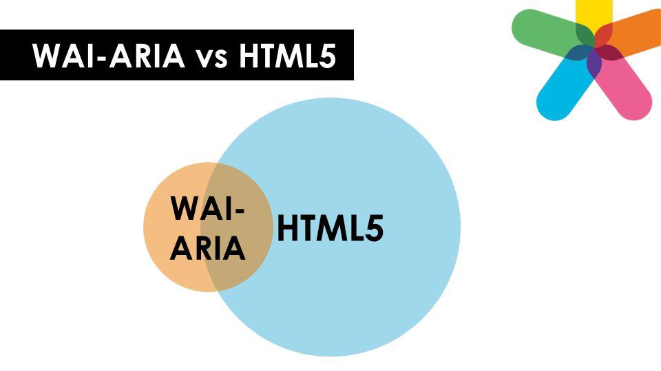 WAI-ARIA vs HTML5 HTML5 WAI-ARIA