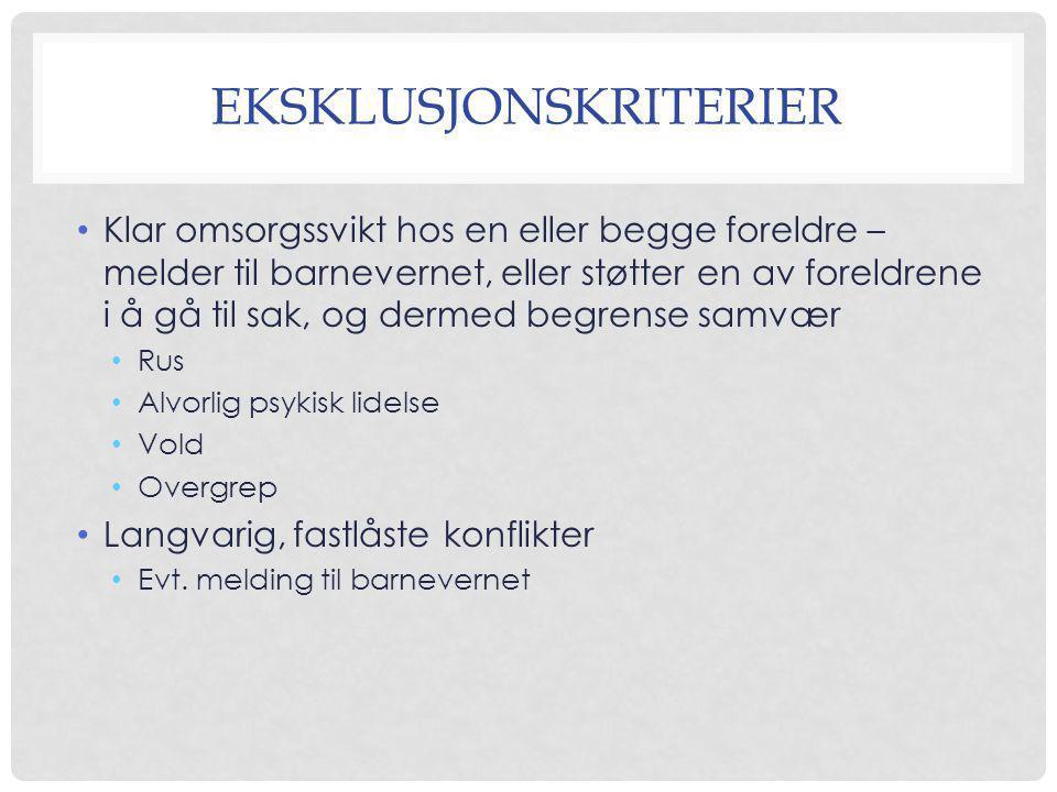 EKSKLUSJONSKRITERIER