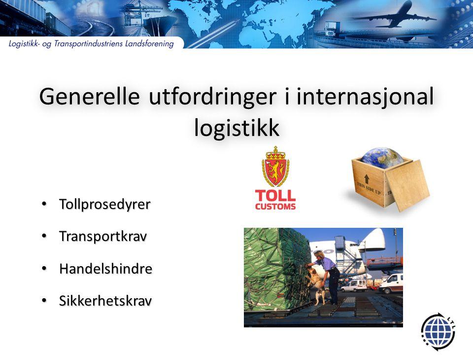Generelle utfordringer i internasjonal logistikk