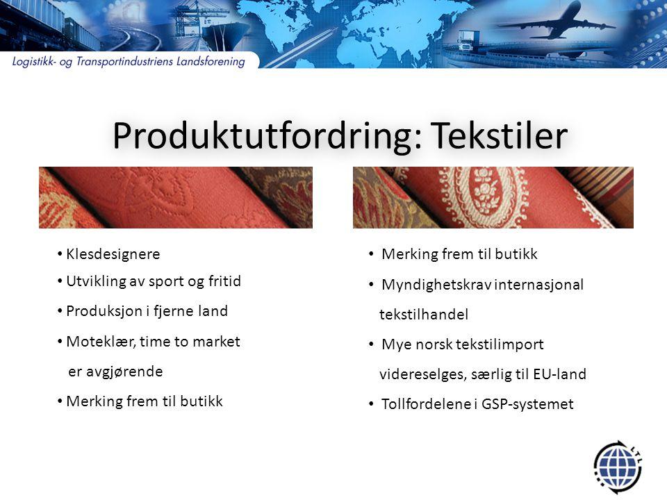 Produktutfordring: Tekstiler