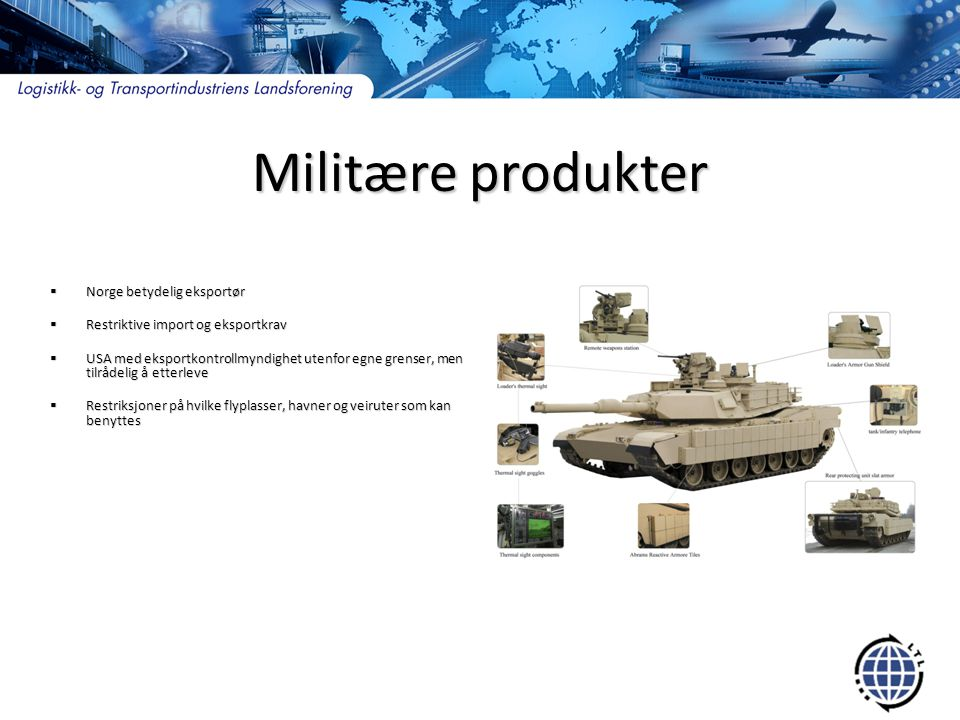 Militære produkter Norge betydelig eksportør