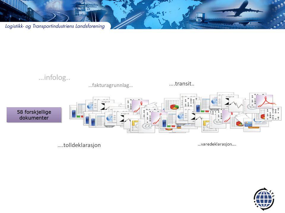 …infolog.. ….transit.. ….tolldeklarasjon …fakturagrunnlag…