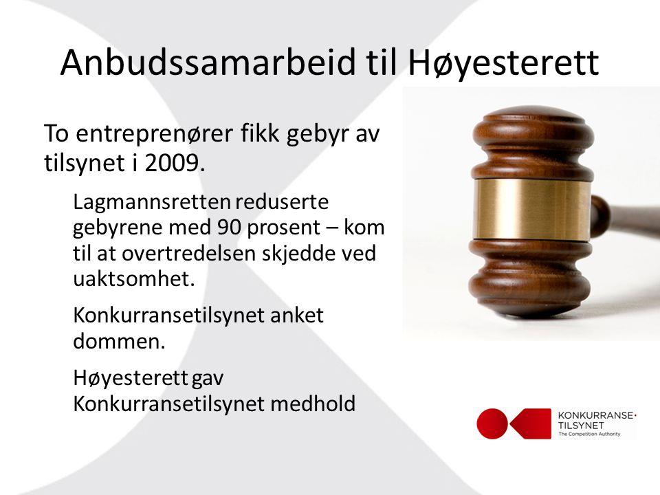 Anbudssamarbeid til Høyesterett