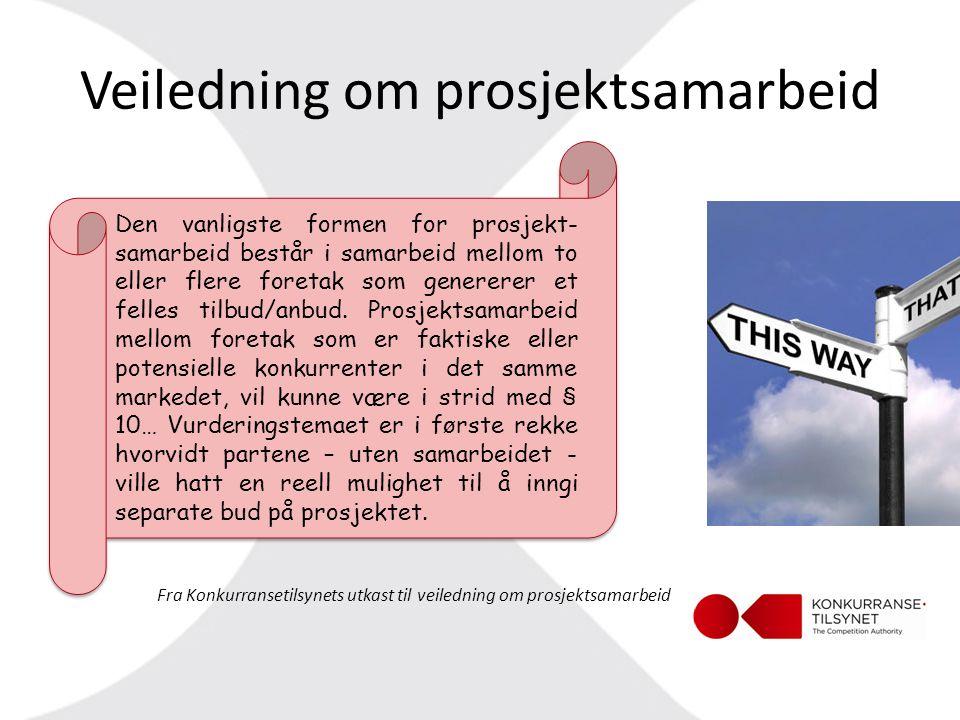 Veiledning om prosjektsamarbeid