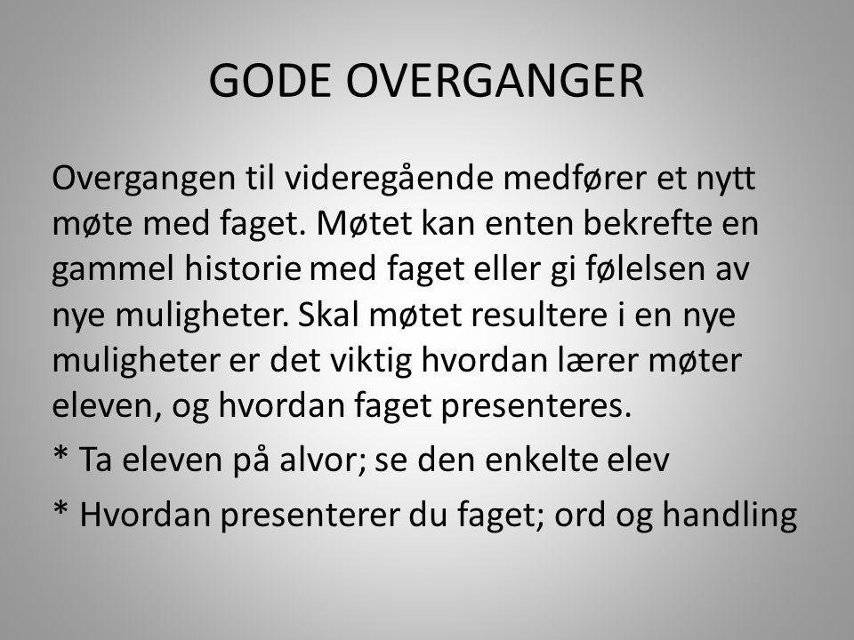 GODE OVERGANGER