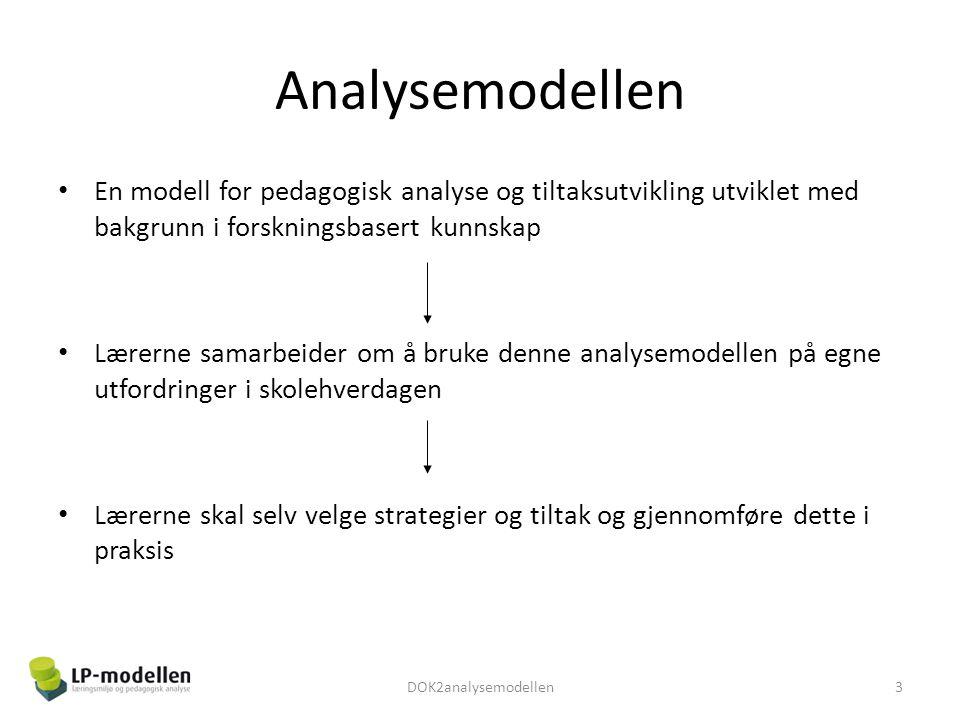Analysemodellen En modell for pedagogisk analyse og tiltaksutvikling utviklet med bakgrunn i forskningsbasert kunnskap.