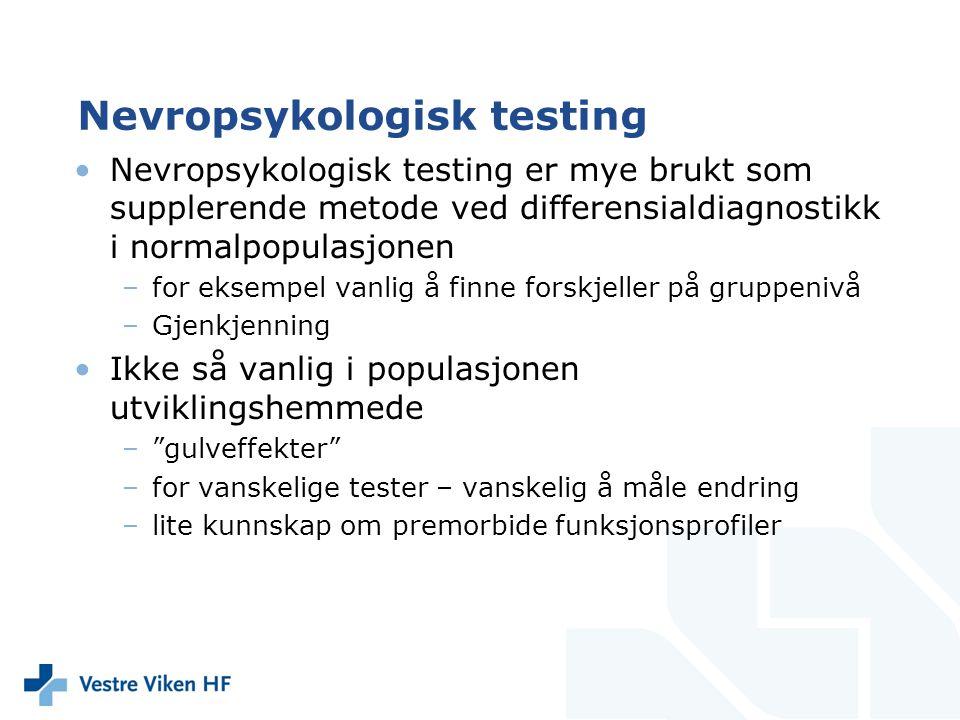 Nevropsykologisk testing