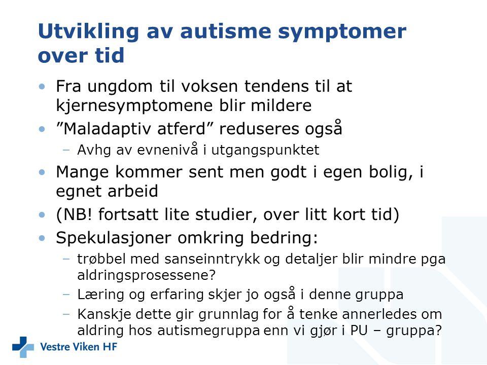 Utvikling av autisme symptomer over tid