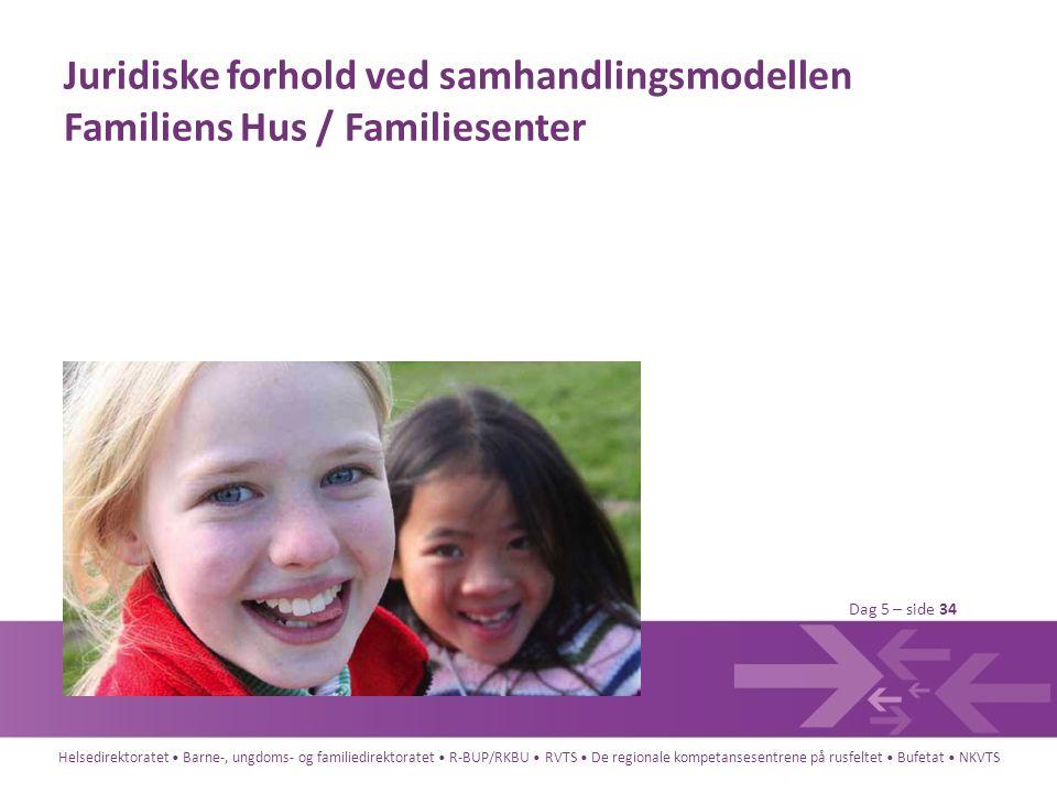 Juridiske forhold ved samhandlingsmodellen Familiens Hus / Familiesenter