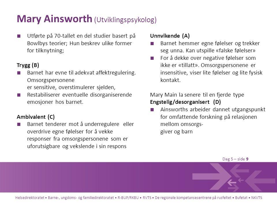 Mary Ainsworth (Utviklingspsykolog)