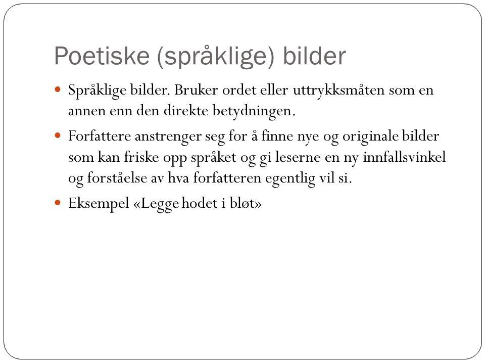 Poetiske (språklige) bilder