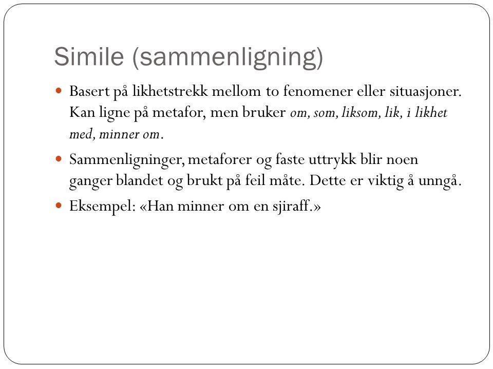 Simile (sammenligning)