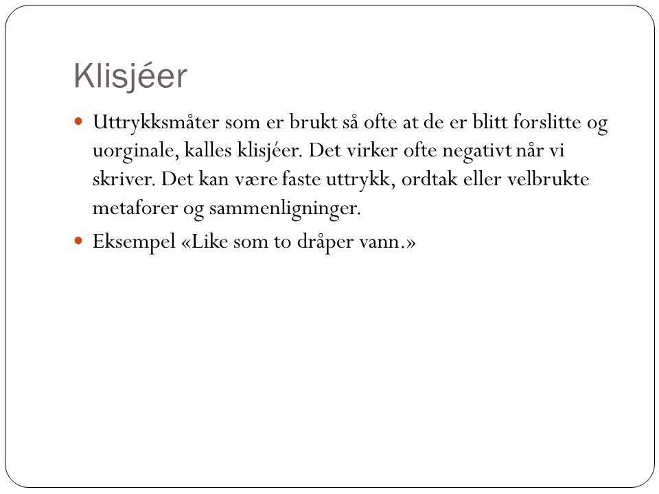 Klisjéer