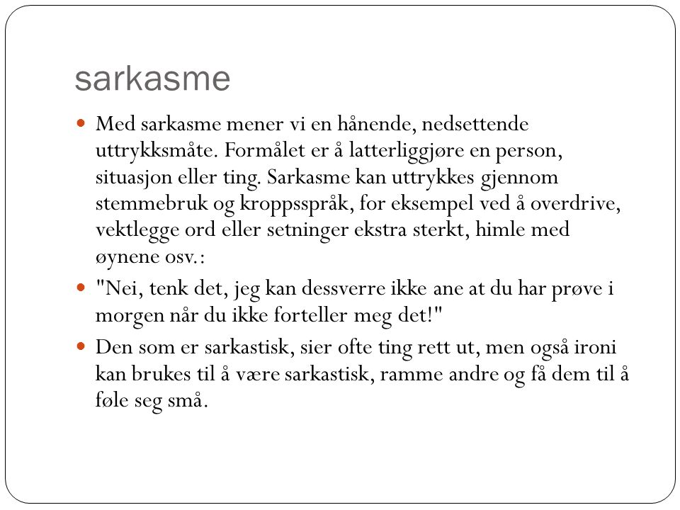 sarkasme