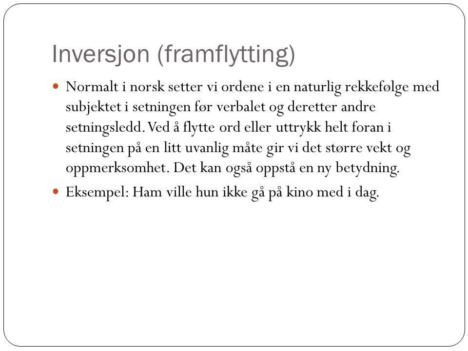 Inversjon (framflytting)