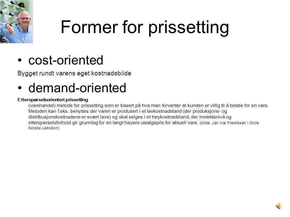 Former for prissetting