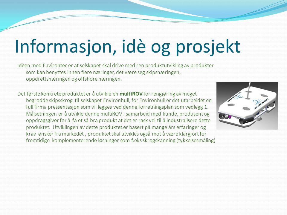 Informasjon, idè og prosjekt