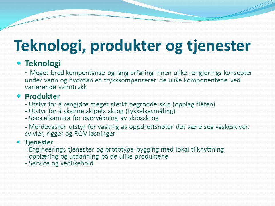 Teknologi, produkter og tjenester