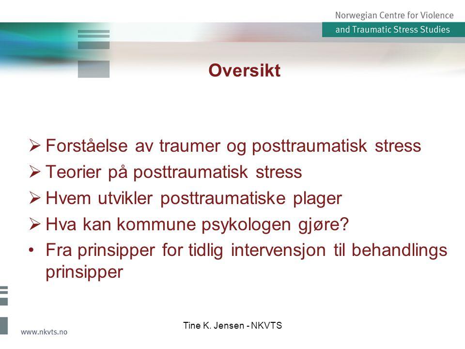 Forståelse av traumer og posttraumatisk stress