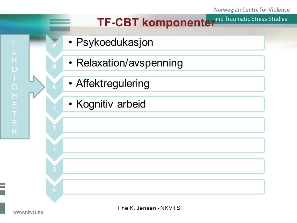 TF-CBT komponenter F E R D I G H T Tine K. Jensen - NKVTS P