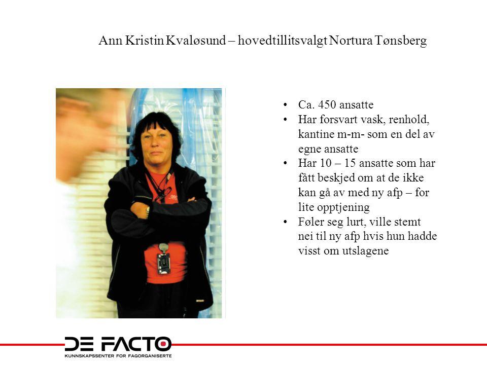Ann Kristin Kvaløsund – hovedtillitsvalgt Nortura Tønsberg