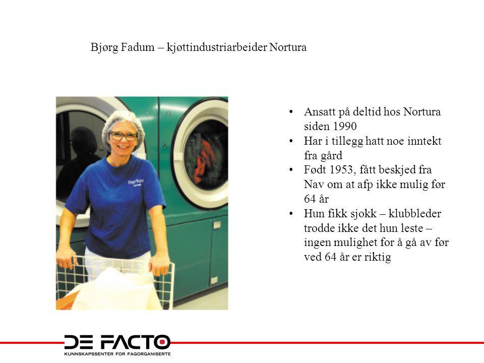 Bjørg Fadum – kjøttindustriarbeider Nortura