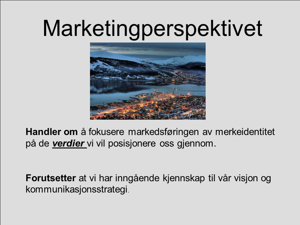 Marketingperspektivet
