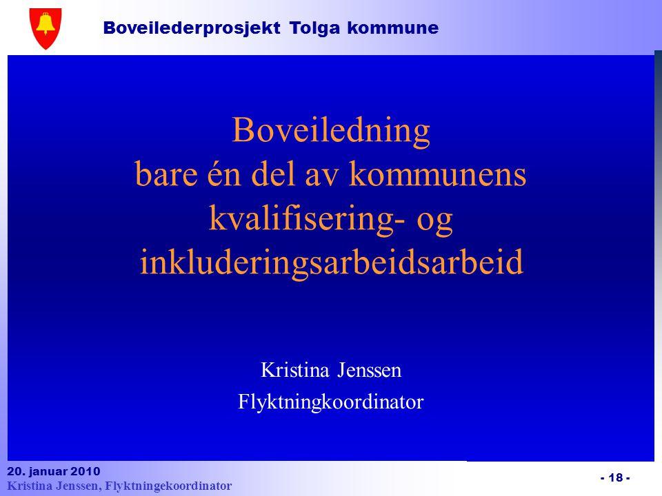 Kristina Jenssen Flyktningkoordinator