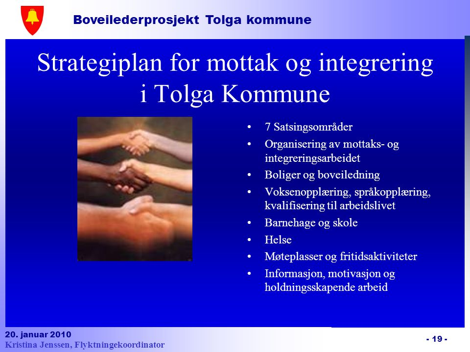 Strategiplan for mottak og integrering i Tolga Kommune